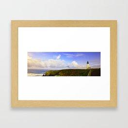 Newport Oregon - Coastal Light Framed Art Print