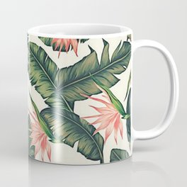 Palm Leaf & Flower Print Coffee Mug