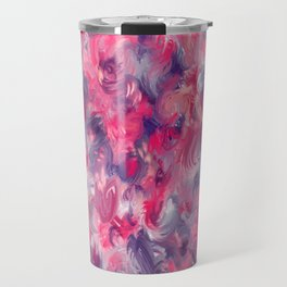 Painted red flowerbed Travel Mug