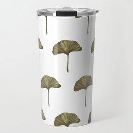 Green Ginko Leaf - Simple Minimalist Nature Travel Mug