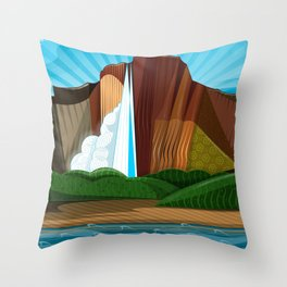 Salto Ángel - Siete Maravillas de Venezuela Throw Pillow