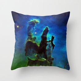 NEbula. : Teal Green Pillars of Creation Throw Pillow