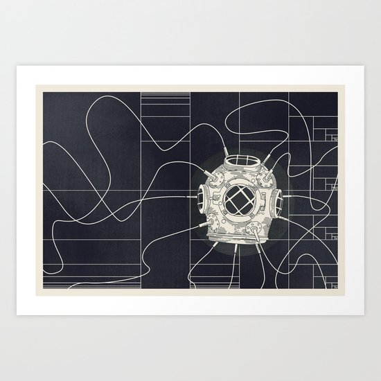 Dive Bomb / Recursive Art Print