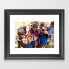 Maasai Wave Framed Art Print