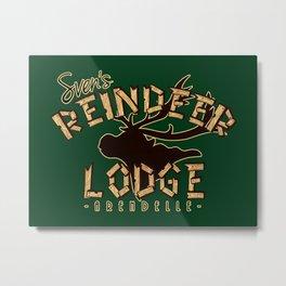 Sven's Reindeer Lodge Metal Print