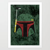 boba fett Art Prints featuring Boba Fett by Some_Designs