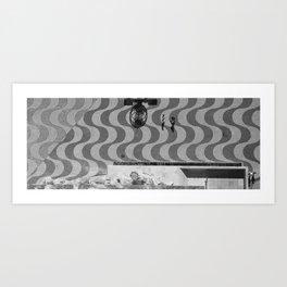 Motifs et ombres Art Print