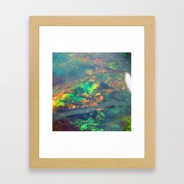 Fire Opal Framed Art Print