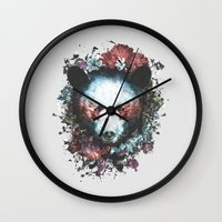 warrior Wall Clocks featuring Warrior by Tracie Andrews