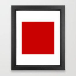 Bright red Framed Art Print