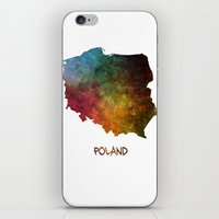 poland iPhone & iPod Skins featuring Poland map  by jbjart