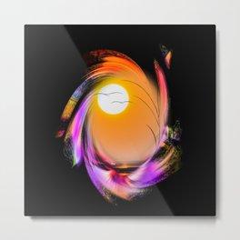 Sunrise - Birds Metal Print