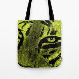 Tiger Eyes - Lime Tote Bag