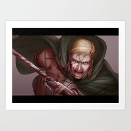 Shingeki no Kyojin - Erwin Smith Art Print