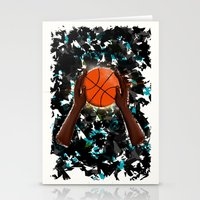basketball Stationery Cards featuring  BasketBall  by imrvphoto