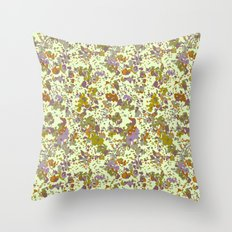 painted floral Throw Pillow