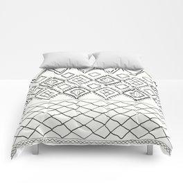 Beni Moroccan Print in Cream and Black Comforters
