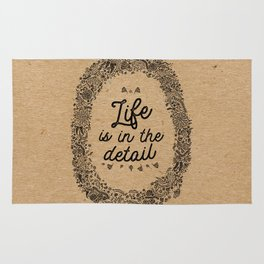 life is in the detail Rug
