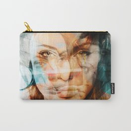 faces of Angelina Jolie Carry-All Pouch