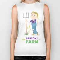 clint barton Biker Tanks featuring Clint Barton the Farmer by Alice Wieckowska