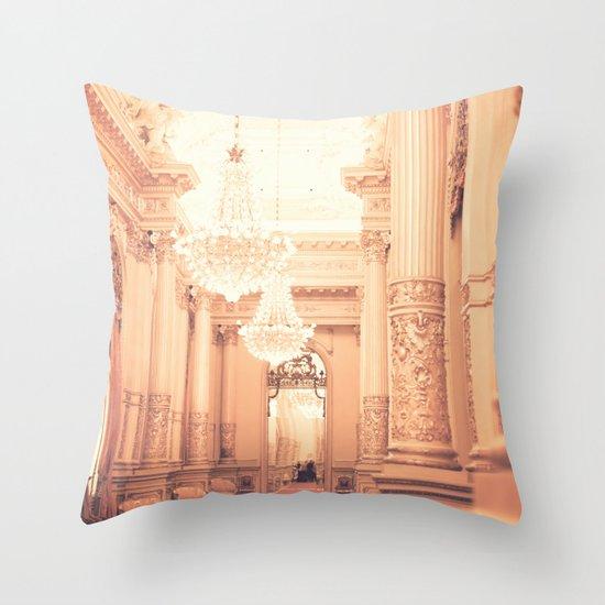 The Golden Room II Throw Pillow