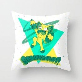Scribblypuff! Throw Pillow