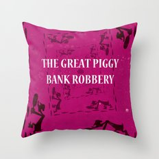 The Great Piggy Bank Robbery Throw Pillow