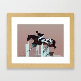 Spotted Jumper Framed Art Print