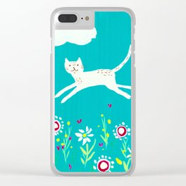 Spring Frolic Clear iPhone Case