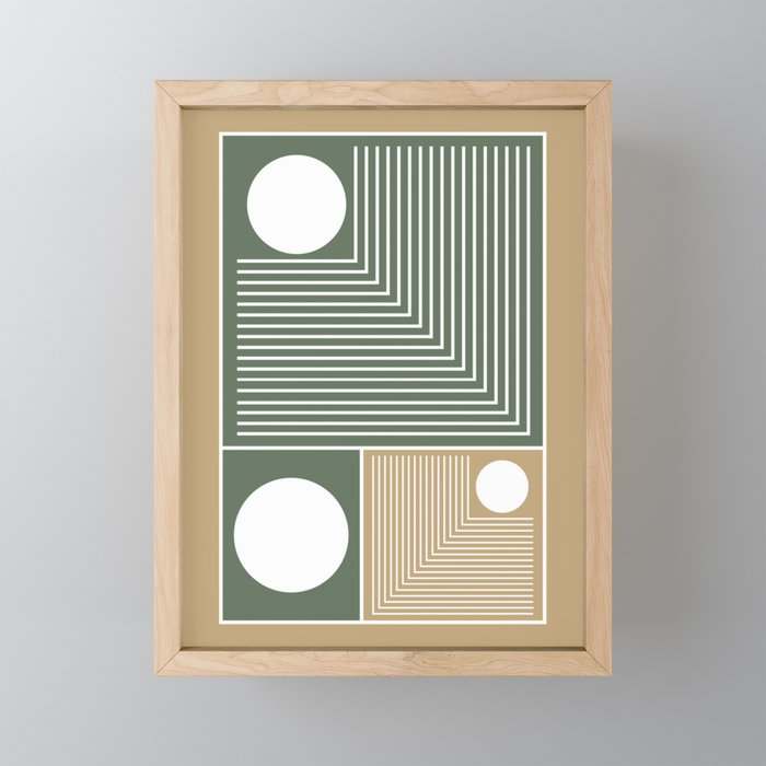 Stylish Geometric Abstract Framed Mini Art Print