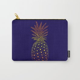 Golden Pineapple Stars Carry-All Pouch