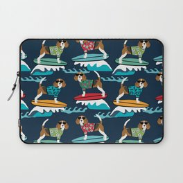 Beagle surfing pattern cute pet gifts dog lovers beagles Laptop Sleeve