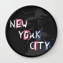 Motif Statue de la liberte NYC Wall Clock