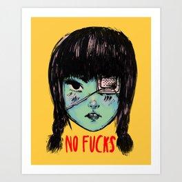 no fucks Art Print