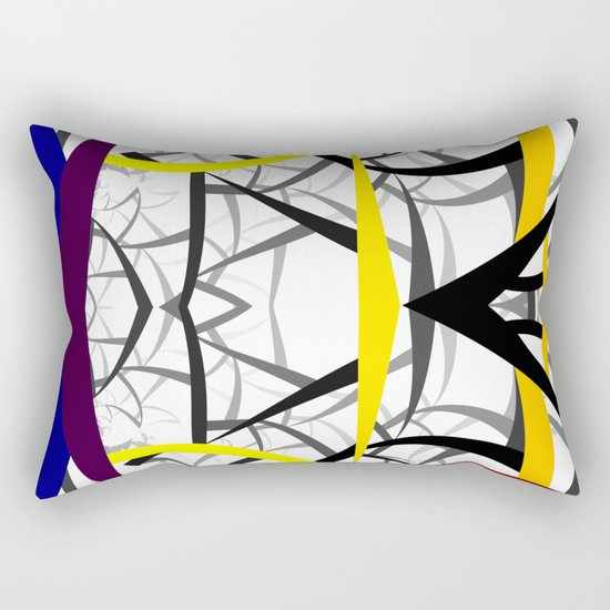 geometric architecture Rectangular Pillow