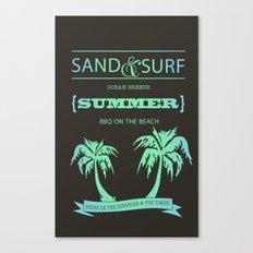 Aqua Summer Canvas Print