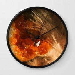 Citrine Quartz Wall Clock