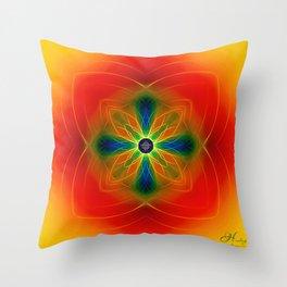 Mandala of Healing Throw Pillow