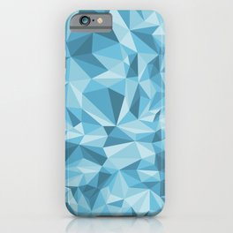 Blue triangles iPhone Case