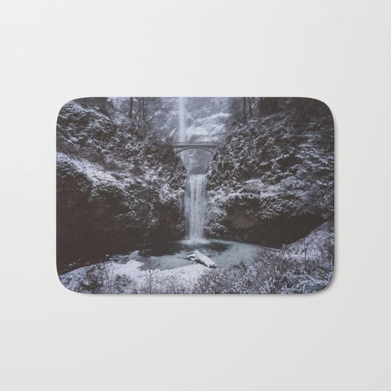Winterland Waterfall #society6 Bath Mat