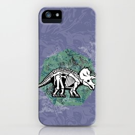 Triceratops Fossil iPhone Case