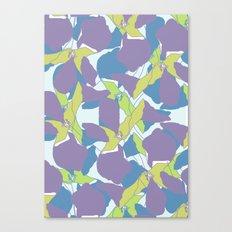 Blocked Flowers Canvas Print