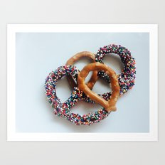 Unicorn Pretzels  Art Print