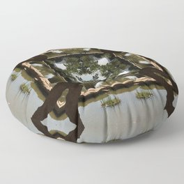 Earth Convergence Floor Pillow