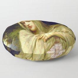 "William-Adolphe Bouguereau ""Modesty"" Floor Pillow"