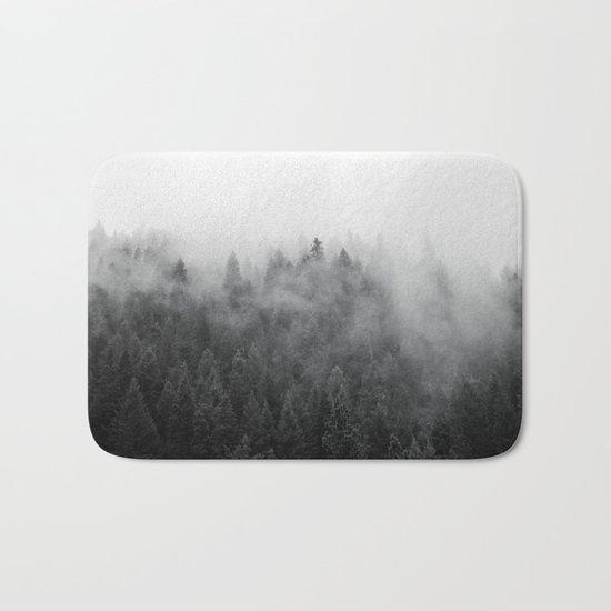 Black and White Mist Bath Mat
