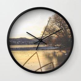 Lake Sunset Wall Clock