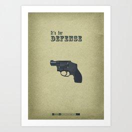 Breaking Bad - Thirty-Eight Snub Art Print