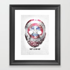 Yankee Mask Framed Art Print