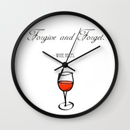 Forgive and Forget Wall Clock